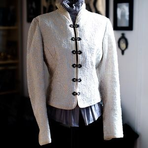 Elie Tahari Victorian Embroidered Off White Jacket